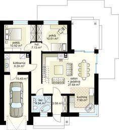 One Room Apartment, Bungalow House Plans, Ground Floor Plan, Floor Plans, How To Plan, Apartments, Plane, Design, Riddling Rack