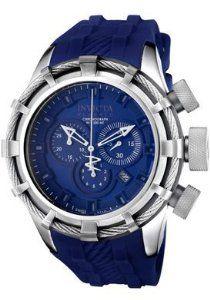 Invicta Men's 1373 Bolt Chronograph Dark Blue Dial Dark Blue Silicone Watch