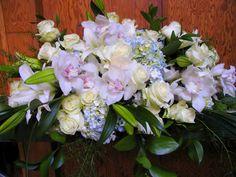 Funeral Flower Arrangements, Memorial Flowers, Sympathy Gifts, Fuji, Floral Design, Floral Wreath, Wreaths, Decor, Floral Crown