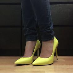 Bright Yellow Aldo Pumps - High Heels