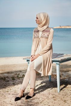 Hijab and beach. Perfect