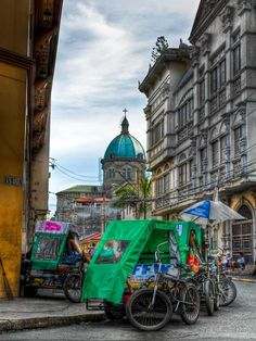 "Manila, Philippines ~ One mode of short-distance public transport is the Pedicab or ""Padyak"" (human-powered tricycle). Cebu, Davao, Makati, The Places Youll Go, Places To See, Manila Philippines, Philippines Culture, Angeles Philippines, Viajes"