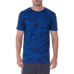 Russell Men's Performance Camo Printed Crew Tee, Size: XL, Blue