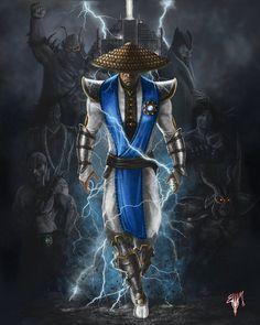 Mortal Kombat Legacy - Raiden Fan Art  Created by Esau Murga