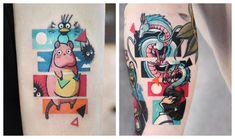 Dream Tattoos, Mini Tattoos, Future Tattoos, Love Tattoos, Body Art Tattoos, Tatoos, Cartoon Tattoos, Anime Tattoos, Miyazaki Tattoo