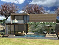 Extension de maison   Maison & Vous Cout Extension Maison, Conception, Mansions, House Styles, Outdoor Decor, Nature, Home Decor, Chalets, Environment