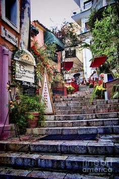 Taromina Steps in Sicily , Italy