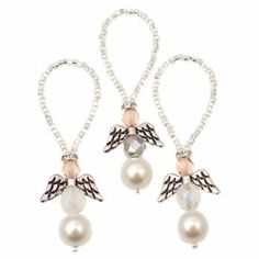 Love these little decorations, cant wait to make them. Christams Angel Tree Decoration Kit - Christmas Kits from The Bead Shop UK