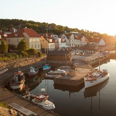Bornholm XXIV (Gustaf_E) denmark island harbour danmark gyllene bornholm gammal hamn  skorsten gudhjem korsvirkeshus