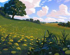 Environment Sketches 2 on Behance Landscape Concept, Fantasy Landscape, Landscape Art, Landscape Paintings, Landscape Photography, Fantasy Art, Landscape Drawings, Landscape Illustration, Illustration Art