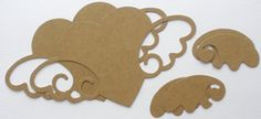 ♥ .♥ . . . . BARE CHIPBOARD DiE CUTS . . . . ♥ .♥ HEART WINGS Size Measurements . . . 3.5 x 6 1/4   . . . ♥ O R D E R I N G ♥ . . . S H O P ♥ S A V I N G S - Our Menu Selection Offers Built in Discounts - Simply Choose the Amount from (pull down menu) Number of Pieces - Number of Pieces can be further increased by adjusting the Quantity - Need assistance? with ordering, contact me ! ┊  ┊  ☆ ┊  ★ ☆   C H I P B O A R D / DE T A I L S -♥- 101 Chipboard is a Basic Craft Element Unfinis...