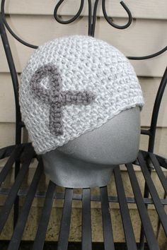 Brain Cancer Awareness Adult size Beanie  10 by AMedleyofJen, $16.50