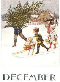 "December - Elsa Beskow SEE pinner TOVE Ingebretsen for ""Months of the Year"""