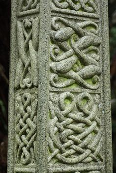 celtic knot symbols carved in stone millenia ago.  *The celtic knot is a symbol of the interconnectedness of all things and of the flow of eternity.