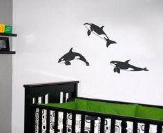 #autocollants #decalques  #wallstickers #decals Trio d'épaulards / Three orcas. $14.95