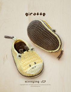 Giraffen-Baby Booties Crochet Symbolmuster PDF