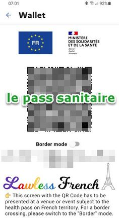 """""""Le pass sanitaire"""" is a hot topic in #France since July 2021. COVID vaccination status, test results, and previous infections (if any) are included on it and it's required documentation for access to various public establishments. #french #learnfrench #lawlessfrench French Expressions, French Nouns, Canadian French, Idiomatic Expressions, French People, Teacher Boards, French Teacher, French Language, Learn French"""