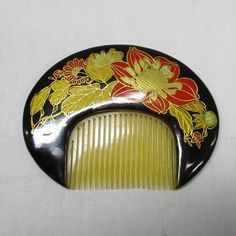F981: OLD Japanese woman's comb with good design of flower 2 | eBay