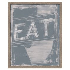 Add a touch of retro-chic style to your kitchen with this eye-catching framed print, showcasing a charming typographic motif.  Produ...