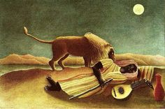 """The Sleeping Gypsy"" by Henri Rousseau"
