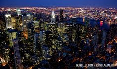 New York City by night (from Empire State Building) - Movie Geek's New York by Travellst.com