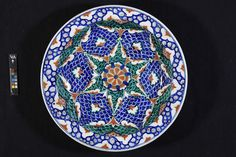 Dish Place of origin: Iznik, Turkey (probably, made) Date: 1580-1585 (made)