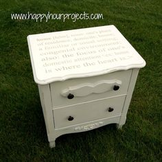 love this night table! would be cute with a nursery rhyme or something in a nursery