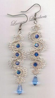 Beautiful tatted lace earrings