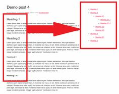 How To Display Single Post Headings Tree In WordPress?