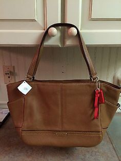 F23284 NWT COACH CARRIE Leather BROWN Satchel Bag Tote RETAILS $358 New GIFT REC
