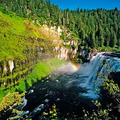 Upper Mesa Falls, Idaho, USA