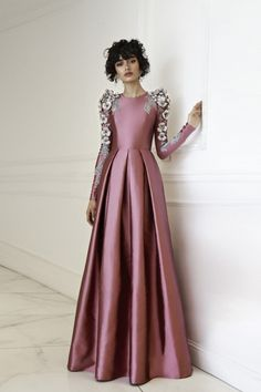 Chana Marelus flower embellished Haute Couture gown
