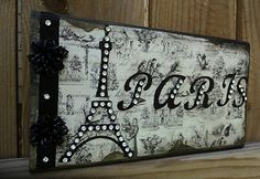 Paris Decor Sign Decorative Eiffel Tower in Paper French Decor | eBay