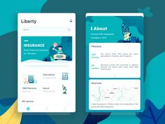 Week #7 | Insurance app design. See more on queblesolutions.com or follow us on Dribbble: dribbble.com/queblesolutions We help our clients deliver a brand identity through design.