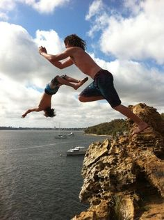 Cliff Jumping at Black Wall Reach, Perth Australia [537 x 720][OC]
