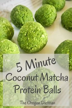 Coconut matcha protein balls are one of the most easy, healthy, no bake snacks you can make. Using coconut protein powder and green tea powder, these energy bites will be perfect for after you work out or just a great snack on the go! #easyrecipe #healthyrecipe #snacks #weightloss #matcha #coconut #nobake #simplerecipe #cleaneating #snackideas #natural #simpleingredients