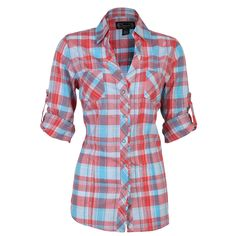 womens orange teal gray plaid shirt   shyanne women s plaid long sleeve western shirt product under shirts ...