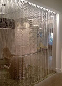 Exceptional Light Weigh Curved Metal #curtain To Create Corners In An Office. Material  Type: Room DividersTypeMetalTo ...