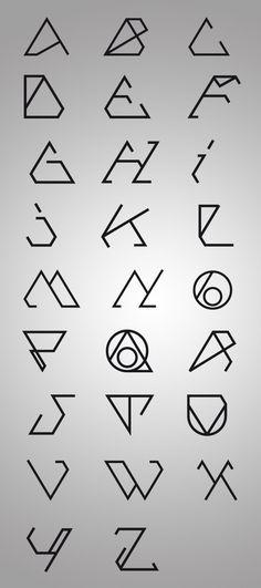 Trisec experimental typefaces - Basic (http://www.behance.net/gallery/TRISEC-FONTS-COLLAB/540221)