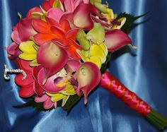 Plumeria Bouquet 7 piece Set Frangipani by SilkFlowersByJean, $405.00