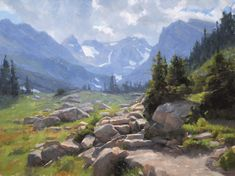 Dave Santillanes, The Trail to Isabelle, oil, 24 x 32.