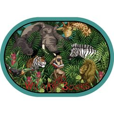 Joy Carpets Even the jungle animals enjoy an exciting tale! Encourage your kids to let loose with literacy with this Wild About Books Oval Kids Rug! Bring some youthful energy to your space with the Wild About Books Kids Rug! Rug Size: Oval x Brown Rug, Brown And Grey, White Area Rug, Beige Area Rugs, Book Area, Glam Room, Exotic Pets, Exotic Animals, Cool Rugs