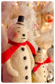 cute papier mache snowmen