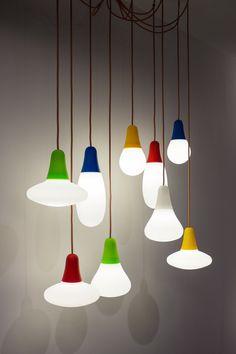 Direct light polyethylene pendant lamp CIULIFRULI by Martinelli Luce | design Emiliana Martinelli, 5 1AA Alfonso Femia Gianluca Peluffo @martinelliluce