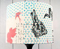 Screen-printed lampshade http://georgiejaydesign .wordpress.com/