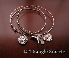 Love the Alex & Ani bracelets, but hate the price? Learn how to make similar bangles at 1/8th the price!