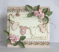 pink baby card - Scrapbook.com