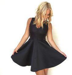 Sadie Little Black Skater Dress