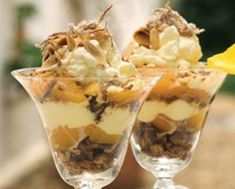 This recipe was taken from the Take a Biscuit recipe book, written and published by us. Peach Trifle, Ginger Peach, Biscuit Recipe, Confectionery, Biscuits, Sweet Treats, Pudding, Favorite Recipes, Cooking