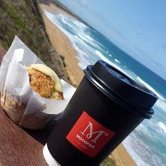 Brekky by the beach  #warrnambool #love3280 #eat3280 #beach #whales #ocean #beautiful #view #coffee #foodporn #spring #lifethroughalens by nathanrowan15